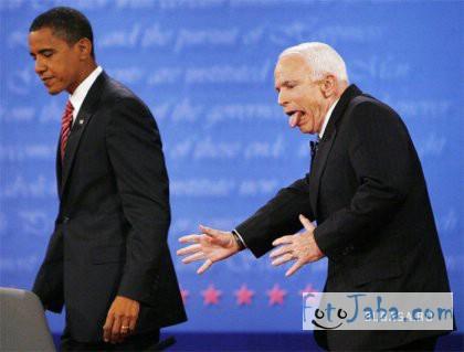 ФотоЖаба - Обама и Маккейн на саммите - 1 фото