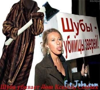 ФотоЖаба на Ксению Собчак с плакатом - фото 13