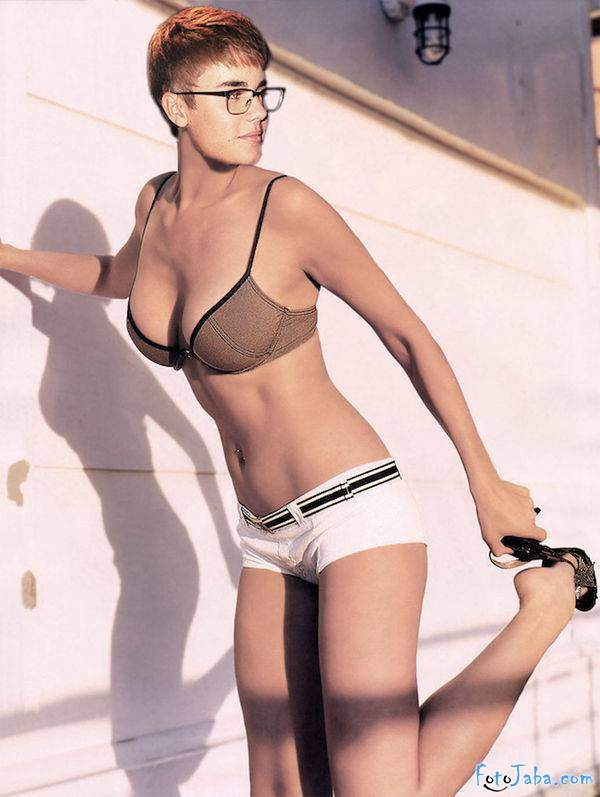 ФотоЖаба на Джастина Бибера в бикини купальнике - фото 5