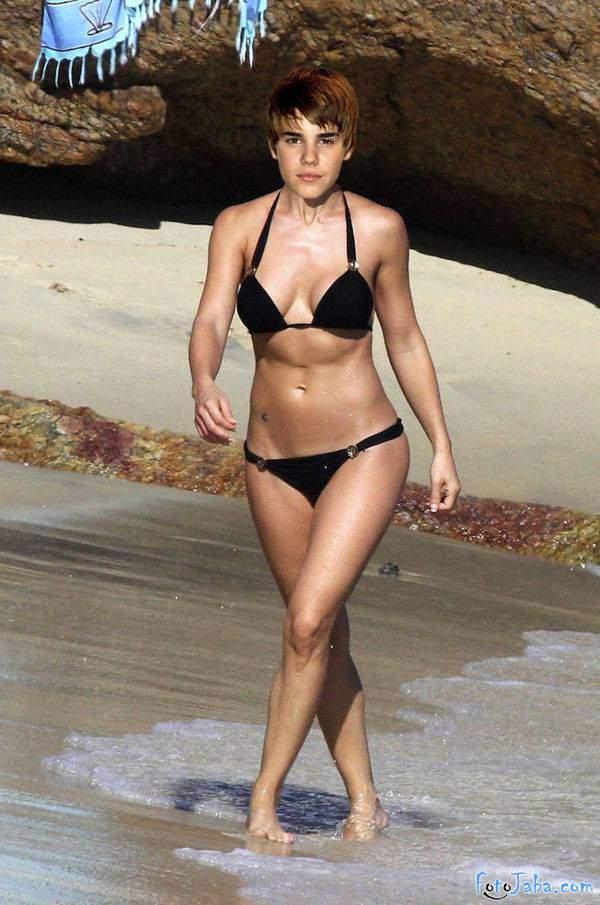ФотоЖаба на Джастина Бибера в бикини купальнике - фото 9