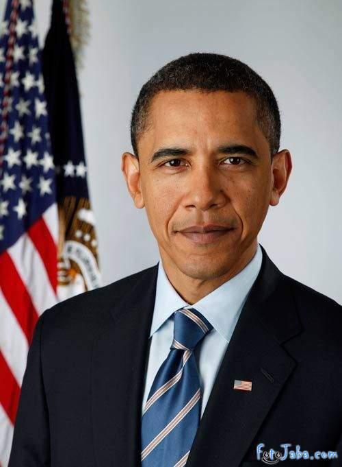 ФотоЖаба на официальный Портрет Барака Обамы - фото 1
