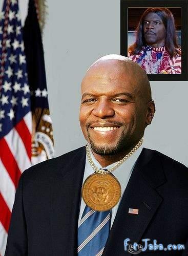 ФотоЖаба на официальный Портрет Барака Обамы - фото 12