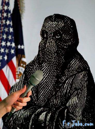ФотоЖаба на официальный Портрет Барака Обамы - фото 13