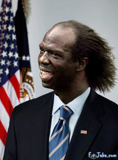 ФотоЖаба на официальный Портрет Барака Обамы - фото 22
