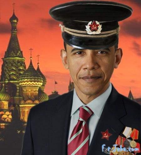 ФотоЖаба на официальный Портрет Барака Обамы - фото 23