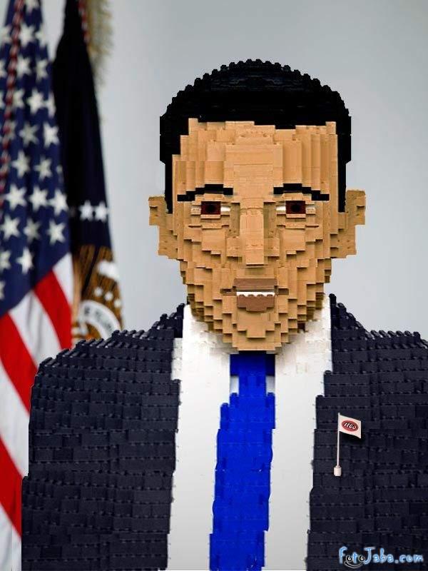 ФотоЖаба на официальный Портрет Барака Обамы - фото 25