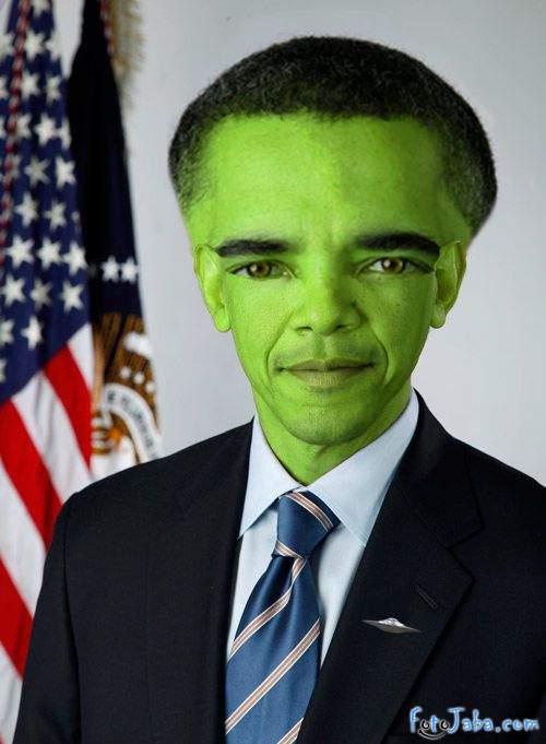 ФотоЖаба на официальный Портрет Барака Обамы - фото 33