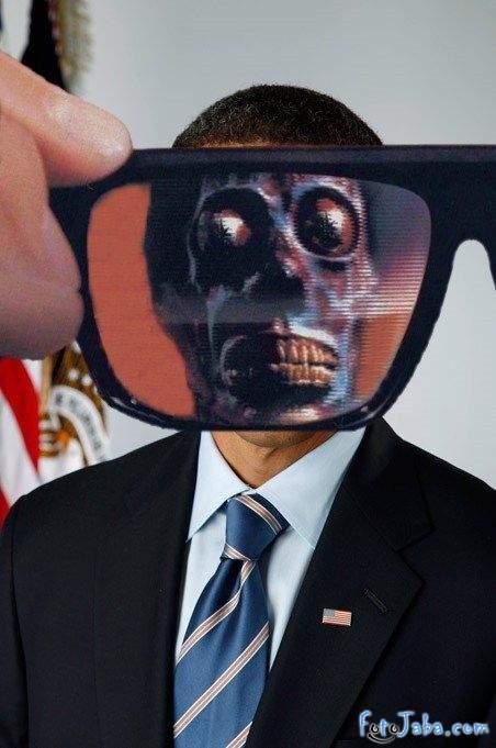 ФотоЖаба на официальный Портрет Барака Обамы - фото 34