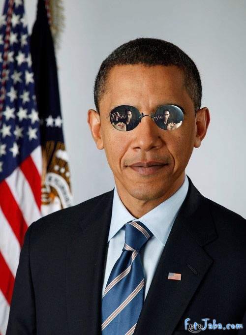 ФотоЖаба на официальный Портрет Барака Обамы - фото 36