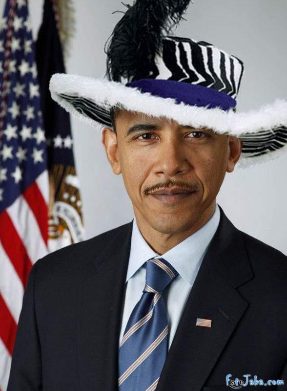 ФотоЖаба на официальный Портрет Барака Обамы - фото 4