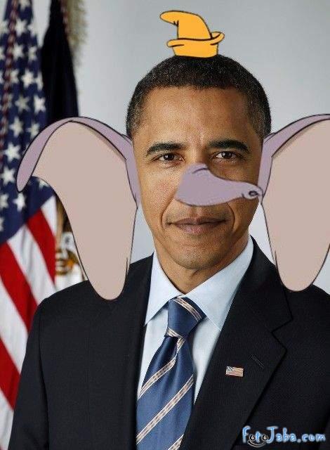 ФотоЖаба на официальный Портрет Барака Обамы - фото 6
